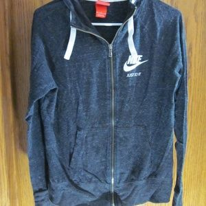 Nike Zip Up Hooded Sweatshirt